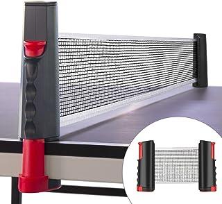 WOSTOO Red de Tenis de Mesa, Portátil Retráctil Table Tennis Net Red de Ping-Pong Longitud Ajustable a 175 cm Adecuado para Entrenamiento Abrazaderas Deportes de Interior al Aire Libre