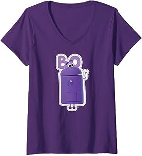 Femme StoryBots Bo Portrait T-Shirt avec Col en V
