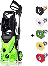 Homdox 3000 PSI Pressure Washer, 1.80 GPM 1800W Electric Power Washer with 5 Quick-Connect Spray Tips (Green)