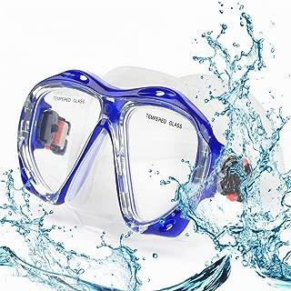 Top studio Snorkel Diving Mask Set, Panoramic HD Scuba Swim Mask, Tempered Anti-Fog Lens Glasses Dive mask, No Leaking Silicone Skirt Swim Goggles for Dry Snorkeling, Swimming, Freediving