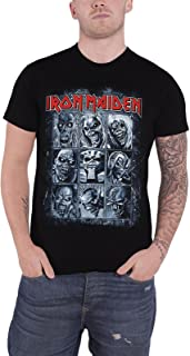 Iron Maiden T Shirt Nine Eddies Montage Killers Logo Official Mens Black