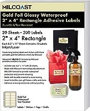Milcoast Gold Foil Glossy Waterproof Tear Resistant Blank Adhesive 2