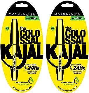 Maybelline New York Colossal Kajal, Black, 0.35g (Pack of 2, 30 Percent off)