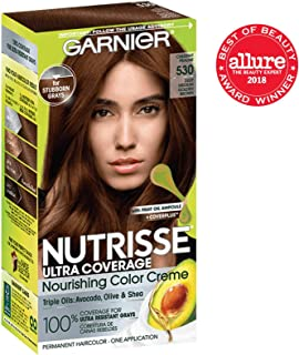 Garnier Nutrisse Ultra Coverage Hair Color, Deep Medium Golden Brown (Chestnut Praline) 530 (Packaging May Vary)