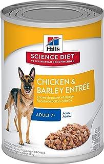 Hills Adult 7+ Chicken and Barley Dog Food, 12 Count, 4.44 Kilograms