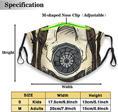 DOU Borderlands Psycho Mask Reusable Activated Carbon Filter Face Covering with Replaceable Filter Medium