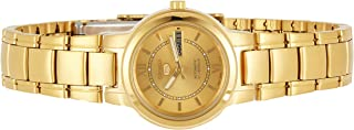 Women's Gold Tone Seiko 5 Automatic Dress Watch, SYME58