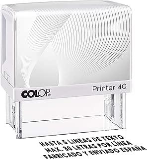 Sello Personalizado, Sello de caucho con tinta, Sello autoenintable personalizado, Sello automático, Sello Empresa, Sello dirección (47x18mm)