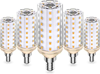 E14 LED Bombillas Maíz, 10W Equivalente 80W 100W Halógena, 3000K Blanco Cálido, E14 Maíz Bombillas, CA 220-240V No Regulable Sin Parpadeo E14 Lámparas, Paquete de 5, Eco.Luma