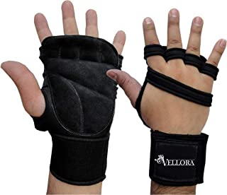 VELLORA Neoprene Gym Gloves Fitness Training Gym Gloves/Functional Hand Protector (Free Size) with Non Slip Grip