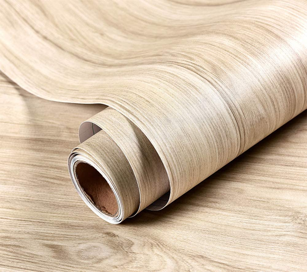 Glow4u Waterproof Thick Light Wood Contact Paper Self Adhesive Vinyl For Floor Kitchen Cabinets Countertop Shelves Table Wall Door Furniture Crafts Decal Sticker Amazon Ca Home Kitchen