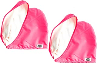 The Cap Wrap, Shower Cap and Hair Towel in One - Dark Pink - 2 Pack