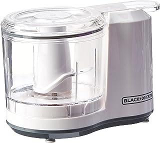 Picador eléctrico Black + Decker HC3061y1/2tazas con un solo toque, color blanco, Capacidad de 1.5 tazas con ensamble mejorado y tapa, Blanco