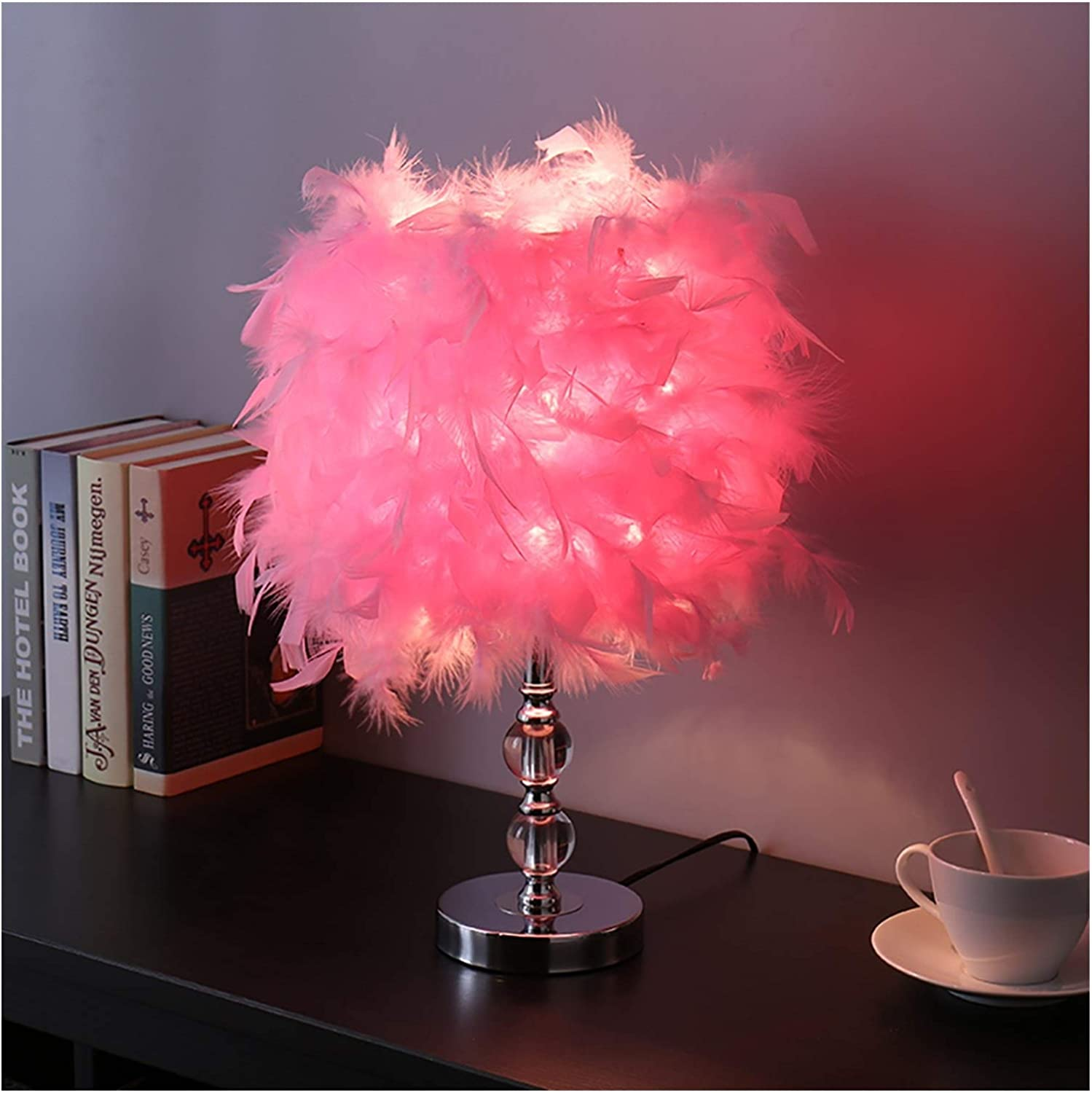 New Shipping Free San Antonio Mall WYH Bedside Lighting Table Feather Nigh Lamps Lamp