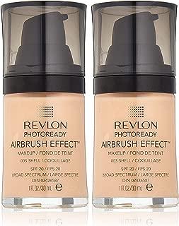 Revlon PhotoReady Airbrush Effect Makeup, 003 Shell (2-pack)