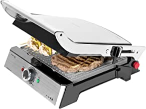 Cecotec Rock'n Grill Pro Elektrische grill, steencoating, afneembare en omkeerbare platen, opening 180 graden, breed opper...