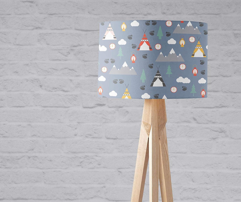 Light Blue Award Camping Bargain sale Lampshade Boys Nursery Ceiling Bedroom Girls