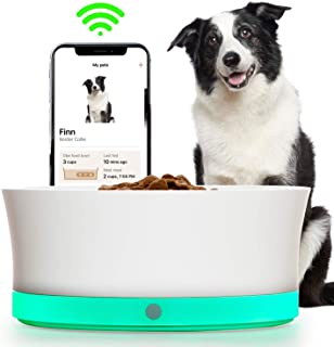 Obe ProBowl Smart Dog Food Bowl for Medium and Large Dogs | Personalized Feeding Bowl For Portion Control, Tracking and Reorder Food Automatically | No Feeder Dispenser | White