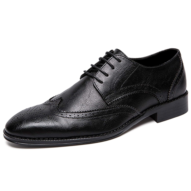[ウェッション] WESHION メンズ ビジネスシューズ ブローグ シューズ フォーマル レースアップ ウイングチップ メダリオン 紳士靴 外羽根 男性 面接 通勤 出張 2カラー 24.0cm~28.5cm