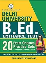 Delhi University B.Ed Entrance Test Latest 20 Practice Sets