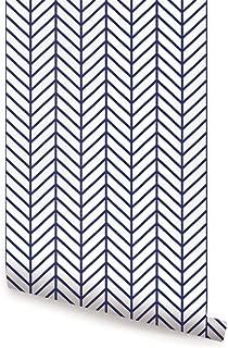 navy herringbone wallpaper