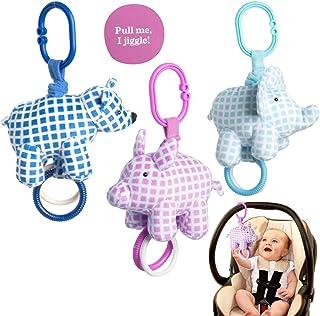 Manhattan Toy Company (3 件套)新生儿玩具毛绒丛林悬挂玩具婴儿出牙玩具 动物