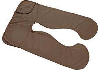 Today's Mom Cozy Comfort Pregnancy Pillow Replacement Cover, Espresso