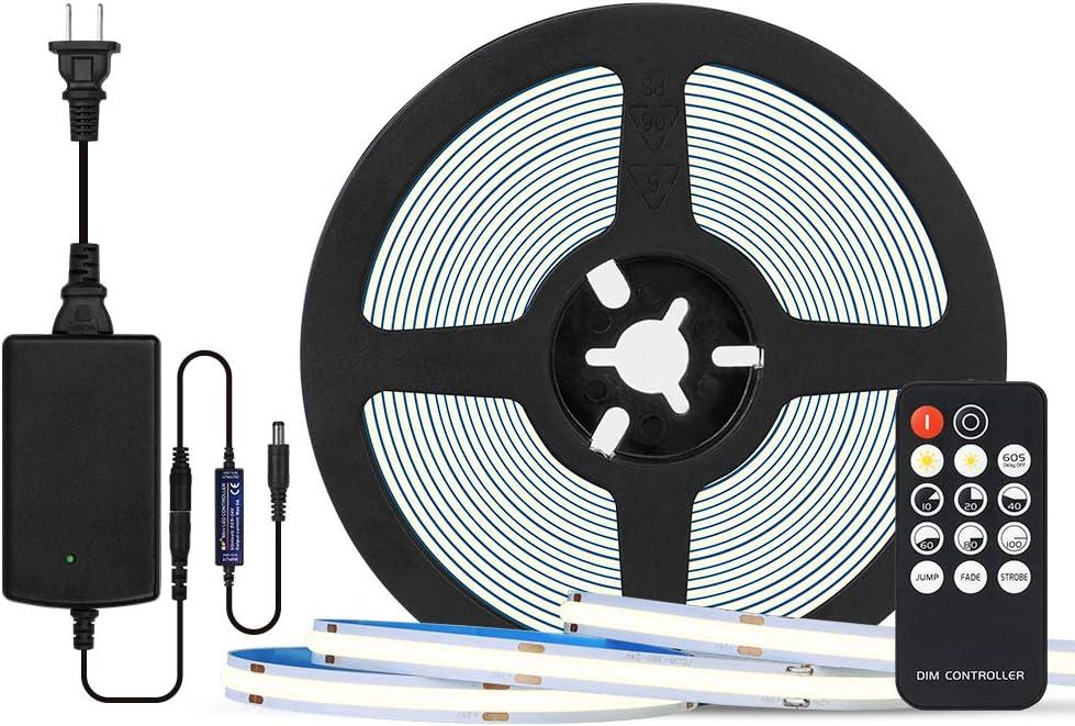 BTF-LIGHTING FCOB Direct sale of New York Mall manufacturer 24V Kit Flexible 16.4F Lights LED Density High