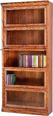 Forest Designs Lawyer Bookcase, 36W x 13D x 79H, Spice Alder