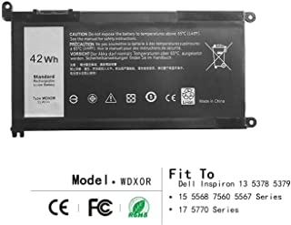 42Wh WDX0R Laptop Battery for DELL Inspiron 13 5368 5378 5379 7368 7378 15 5565 5567 5568 5578 7560 7570 7579 7569 P58F Series Notebook Battery Fits FC92N 3CRH3 T2JX4 CYMGM