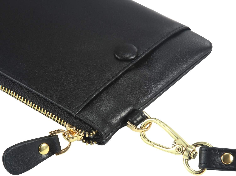 Elegante Echt-Leder Damen Tasche Clutch Bag Handtasche Hochzeit Stilvolle Kleine Clutch//Abendtasche Accessoires f/ür M/ädchen
