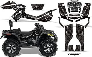 AMR Racing Graphics Can-Am Outlander MAX 500 650 800R 2006-2012 ATV Vinyl Wrap Kit - Reaper Black