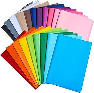 MIAHART 100 feuilles de papier soie multicolore en vrac 35x50cm Papier soie d'emballage cadeau 20 Assortiment de papier so...