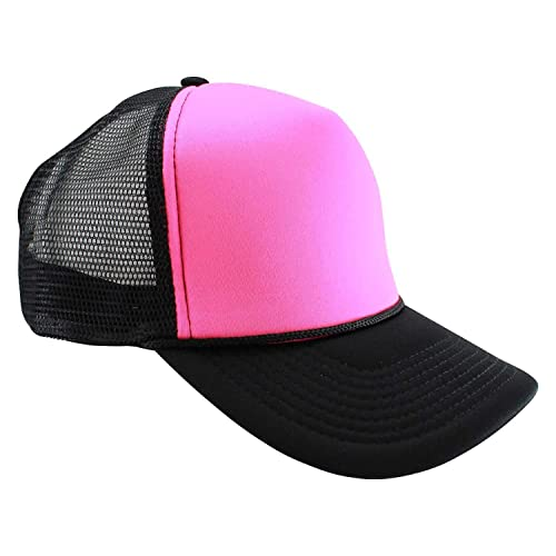 ebcbe790f0b98 Enimay Neon Colored Black Light Trucker Style Foam Hats Pool Party Rave  Summer