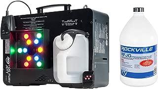 Package: American DJ Fog Fury Jett 700 Watt Vertical Fog Machine w/12 LED, 3 Modes, DMX and Wireless Remote + Rockville RFJG Gallon Fog/Smoke Juice Fluid