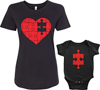 Threadrock Heart & Missing Piece Infant Bodysuit & Women's T-Shirt Matching Set