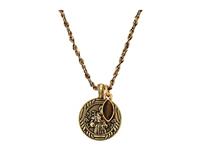 Alex and Ani Saint Anthony Duo Charm Adjustable Necklace (Gold) Necklace