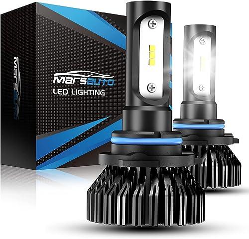 Marsauto 9006 LED Bulbs 8000LM 6000K, 300% Brightness, HB4 HB4U 9006XS LED Light Bulb, 12 CSP Chips Cool Bright, Pack...