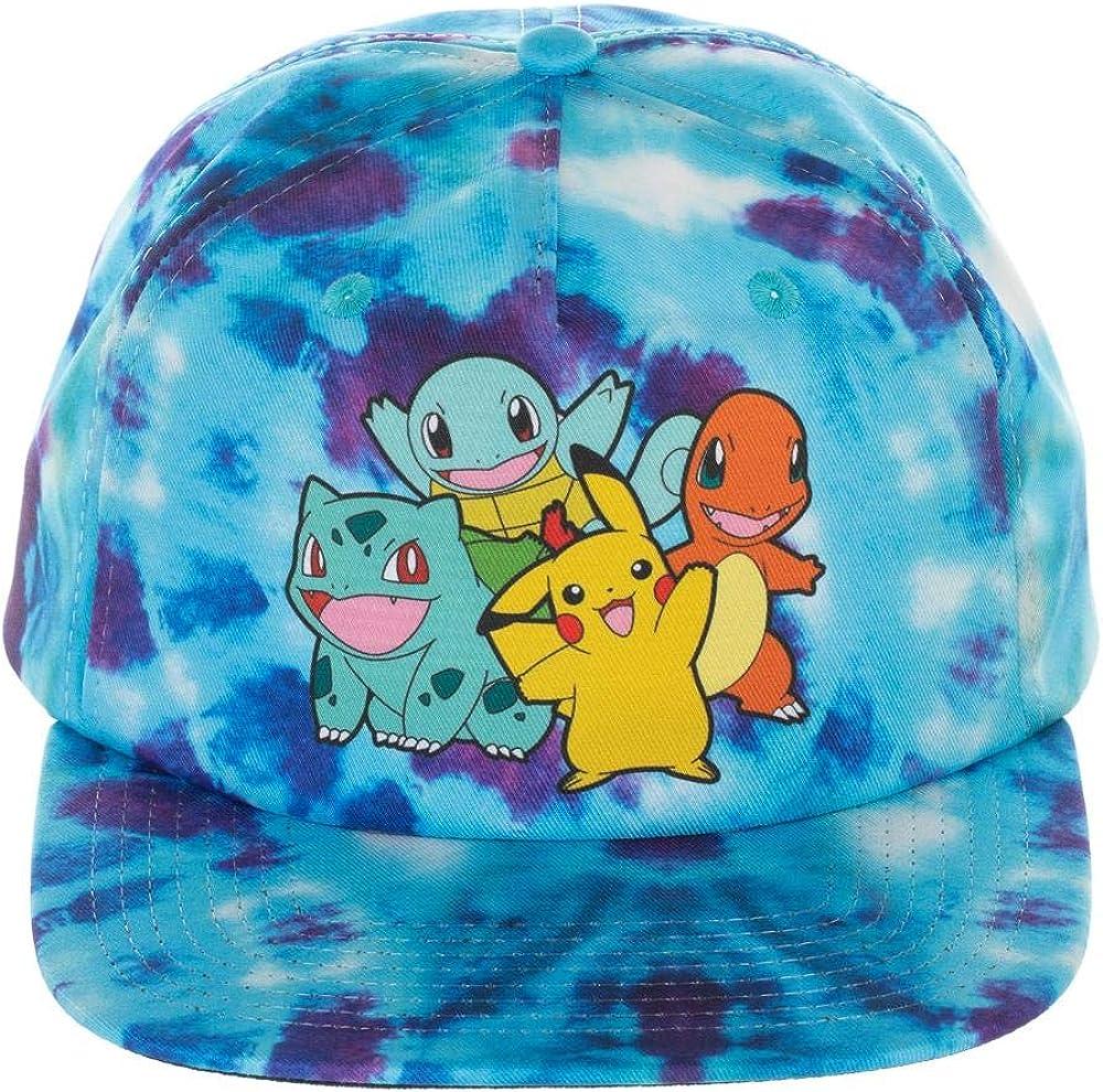 Pokemon Gotta Catch 'Em All Blue Tie Dye Group Slouch Snapback