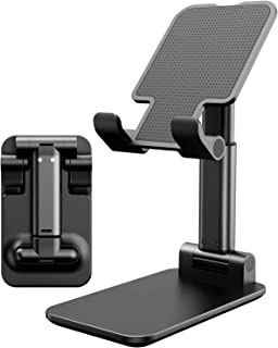 Adjustable Cell Phone Stand, Foldable Portable Phone Stand Phone Holder for Desk, Desktop Tablet Stand Compatible with Mob...