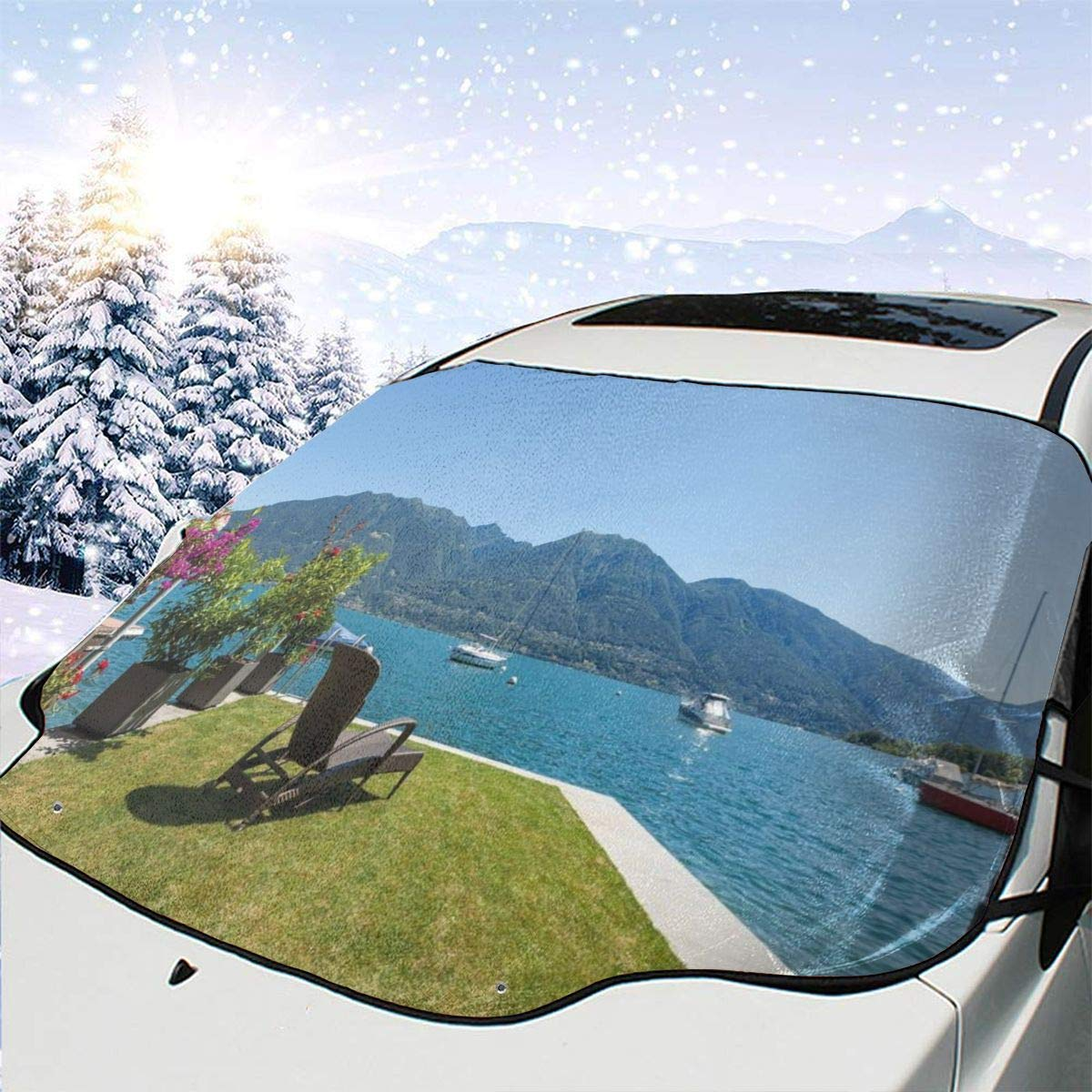 Car Front Free Shipping New Window Windshield Snow Cover Patio Terrace Fees free Fl Outdoor
