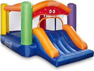 Cloud 9 Inflatable Bounce House with Slide and Blower - Monster Theme