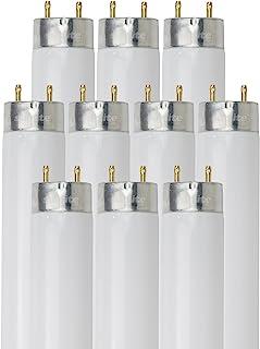 Sunlite F32T8/SP841/10PK T8 High Performance Medium Bi-Pin (G13) Base Straight Tube Light Bulb (10 Pack), 32W/4100K,...