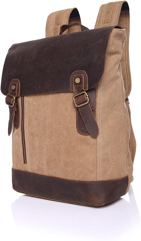 GHC Handtasche & Taschen Mode Reise Freizeit Rucksack Herrenrucksack Canvas Retro Student Backpack