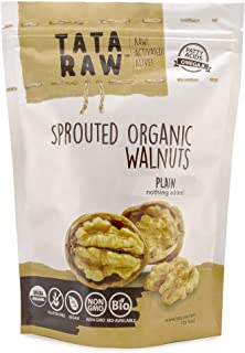 TATA RAW - Sprouted Organic Walnuts - PLAIN. Nothing added -1 lb