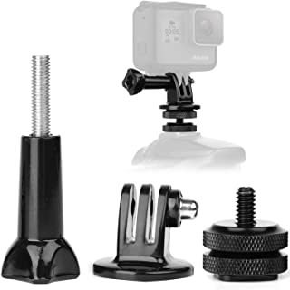 Anwenk Camera Hot Shoe Mount Adapter Compatible with GoPro Adapter Gopro Hero 7 6 5 4 Attaching on Gopro DSLR Camera or Ring Light Photography
