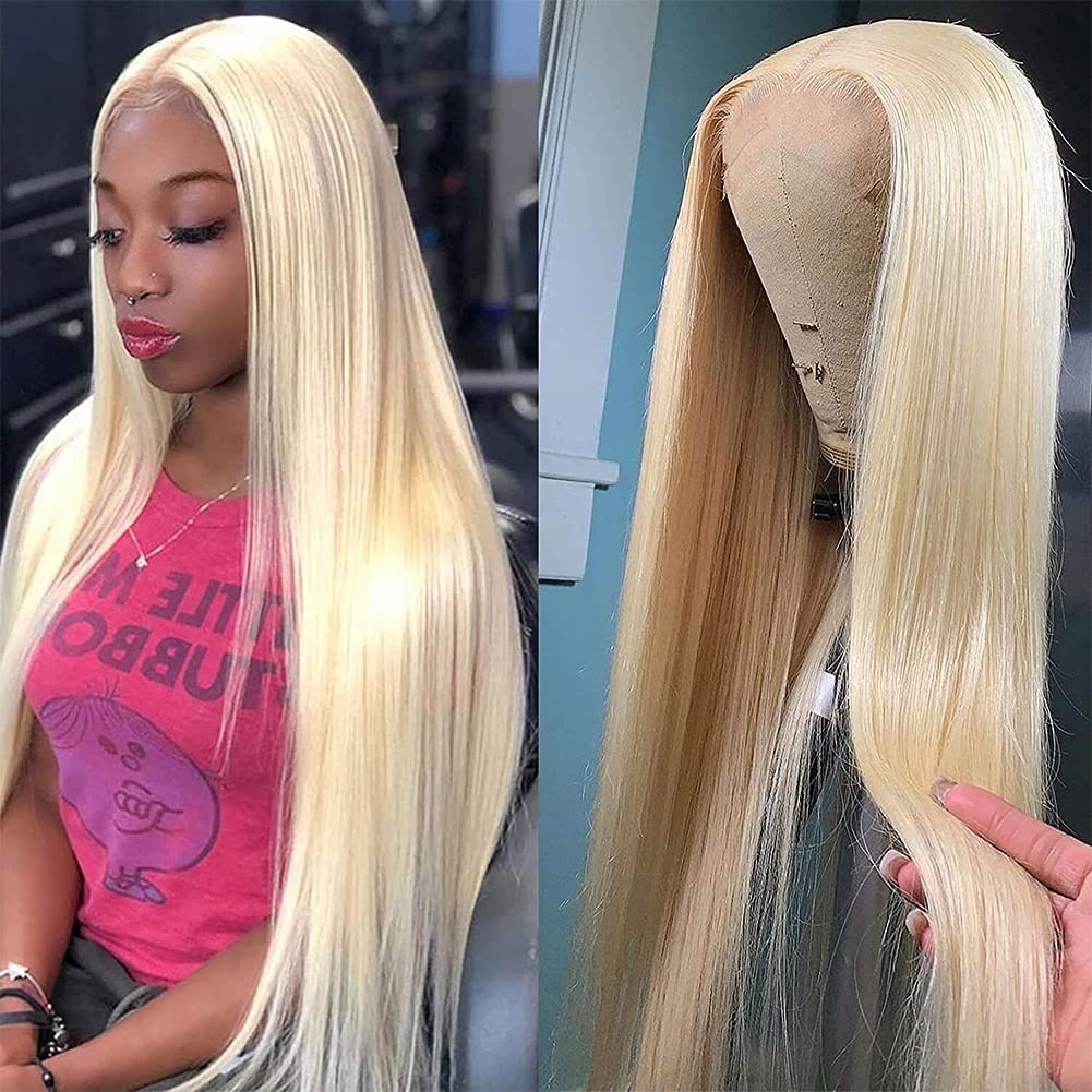 613 Blonde Lace Front Limited time for free Indefinitely shipping Wig Human Transpa Plucked Pre Hair 13x4 HD