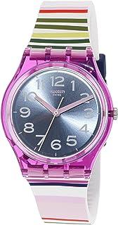 Swatch Funny Lines GP153 Purple Silicone Swiss Quartz Fashion Watch