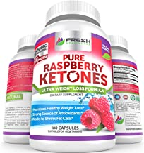 Pure 100% Raspberry Ketones Max 1000mg Per Serving - 3 Month Supply - Powerful Weight Loss Supplement - Provides Energy Bo...