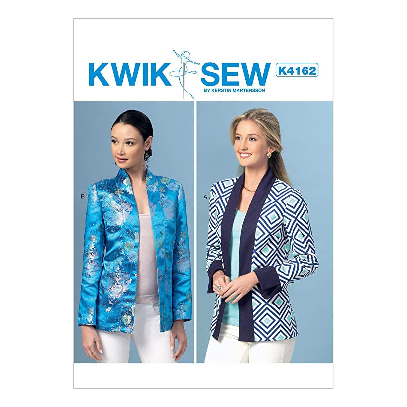 KWIK-SEW PATTERNS K4162 Misses' Open-Front Banded Jackets, All Sizes